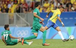 Neymar Jr of Brazil during the men's soccer match between Brazil and Iraq.