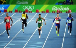 Men's 400m Semi Final on Day 8 of the Rio 2016 Olympic Games at the Olympic Stadium on August 13, 2016 in Rio de Janeiro, Brazil.