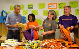 President Obama Takes Part In September 11th National Day Of Service And Remembrance