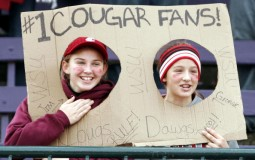 Cougars fans who bought socks at Bartell's will be surprised to find