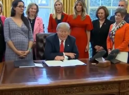 President Trump Signs Bills To Urge Women Into STEM