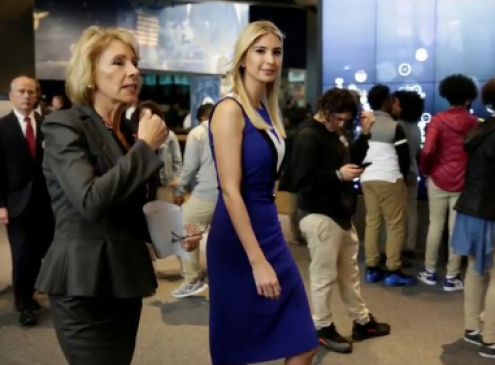 Education Secretary Betsy DeVos and Ivanka Trump Highlight STEM Education For Young Girls