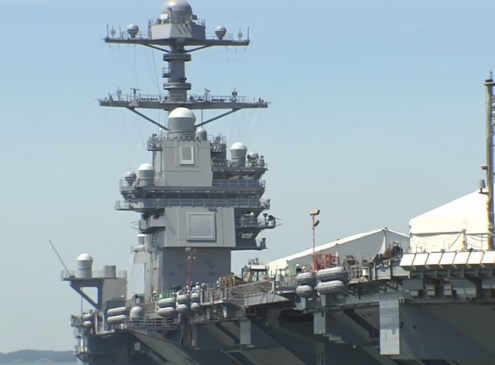 US Navy Futuristic Aircraft Carrier Ready for Trials [VIDEO]