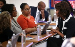 Michelle Obama discusses federal student aid