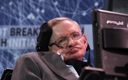 Stephen Hawking In A Press Conference
