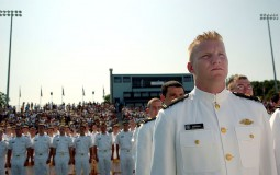Graduates at US Merchant Marine Academy