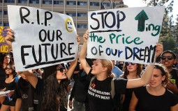 Protests on student loans