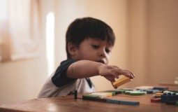 Child playing puzzle