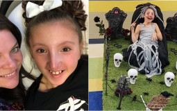 11-year-old Girl with Cerebral Palsy Bags Gold during Halloween Party