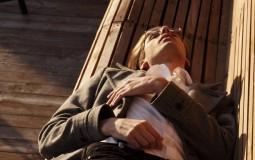 Man lying on the bench