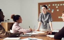 Woman presiding a meeting