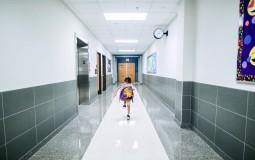 Child in a hallway