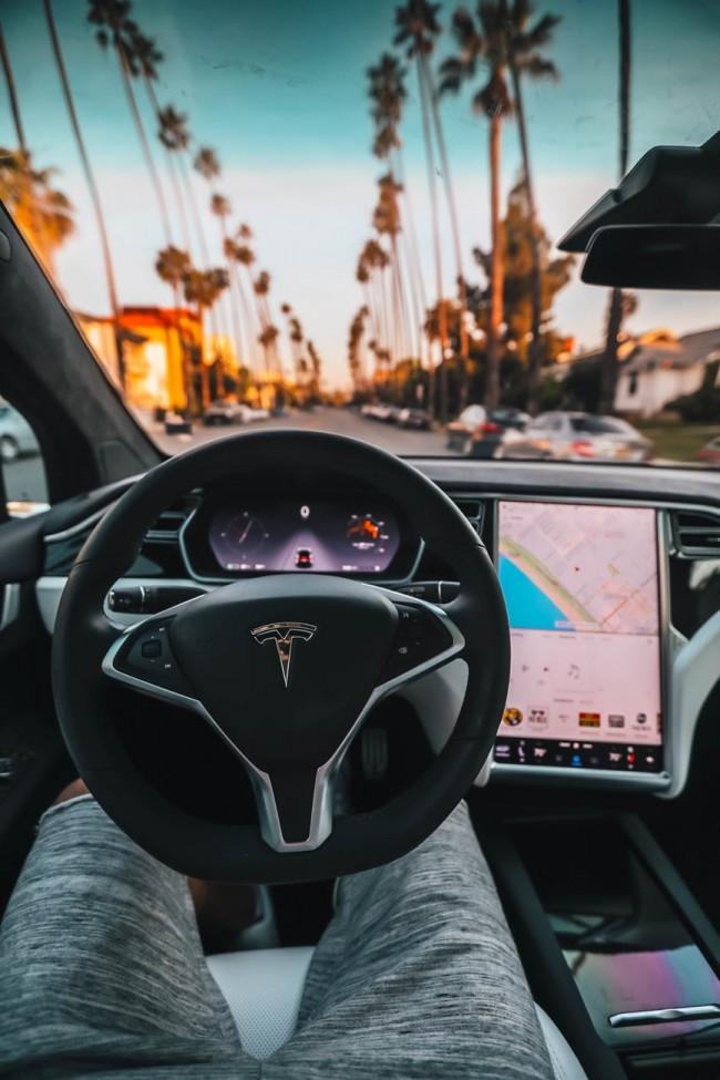Tesla autonomous car