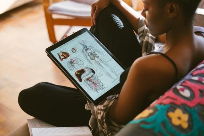 Woman Studying Anatomy