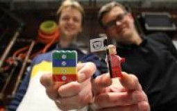 from left: Josh Chawner and Dmitry Zmeev with the LEGO ®